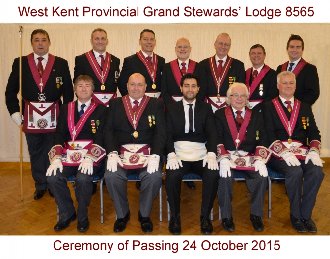 October 2015 Ceremony of Passing Team